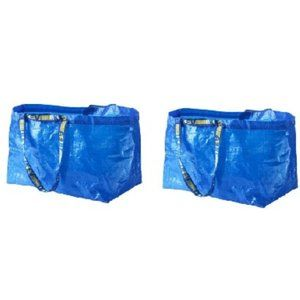 IKEA Set of 2 LARGE BAG Shopping Grocery  19gallon